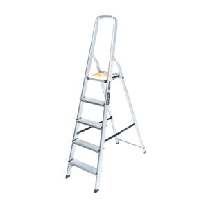 Escalera Familiar De Aluminio KUSHIRO 5 Escalones EKH5