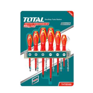Set 6 Destornilladores Aislados TOTAL Industrial THTIS566