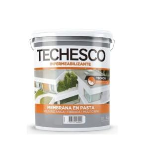 TECHESCO Membrana En Pasta 1.25 Kg Rojo Teja