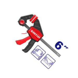 Prensa Rápida Sargento Para Carpintero Tipo F 6″ EMTOP ECLPQ60101