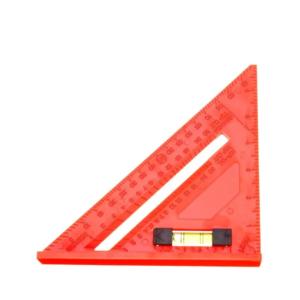 Escuadra Plástica Con Sombrero 7″ + Nivel Burbuja KLD